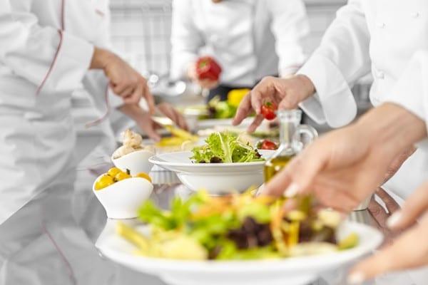 Chefs are preparing salads